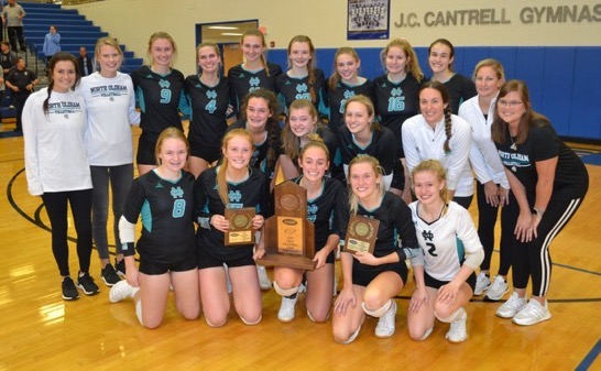 Volleyball Team Battles Falling Short in State Semifinal Match v. Mercy