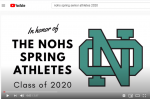 NOHS Senior Athlete Celebration Video