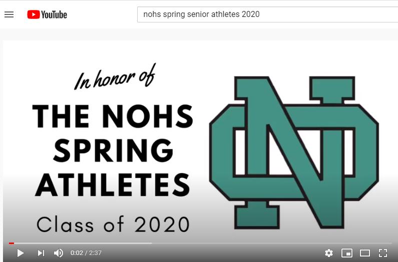 NOHS Senior Athlete Celebration Video