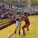 Lady Falcons start strong, hold off Pilgrims