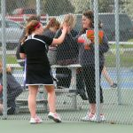John Glenn High School Girls Varsity Tennis falls to New Prairie High School 0-5