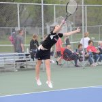 John Glenn High School Girls Varsity Tennis falls to Bethany Christian High School 2-3