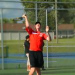 Tennis Falls on the Road at Marian