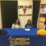 Makayla Flora Signs at Ancilla for Cheer!!!