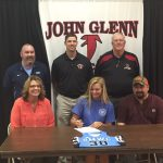 Hayley Preston Signs at Saint Mary-of-the-Woods College