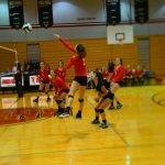 Volleyball Rolls to Victory Over Riley