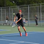 Tennis Wins 1st Round of NIC Tourney Play
