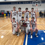 Boys Varsity Basketball defeats New Prairie for a Bi-County Championship