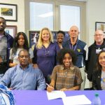 Senior V'Aira Harris signed a letter of intent to play volleyball and at Lander University