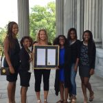 Blazer State Record Relay Team at State House