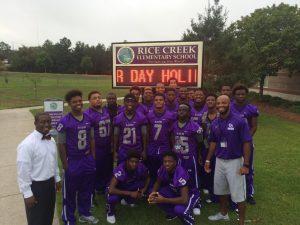 2015 Blazer Football at Rice Creek Elementary