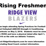 Rising Freshmen Can Begin Working Out May 2