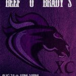 REMINDER:  Eat at Beef 'O' Brady's Tuesday to Support Cross Country