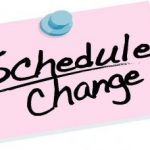 SCHEDULE CHANGE:  Today's Baseball/Softball Game Times Updated