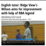 Ridge View's Malcolm Wilson Featured by WIS TV!