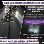 Rising Freshman Athletic Information Night – May 3rd – 6:30pm
