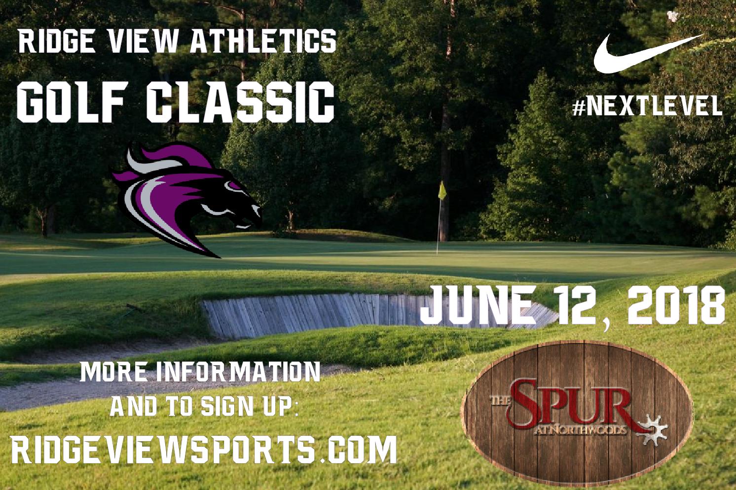 Ridge View Athletics Golf Classic Set for June 12!