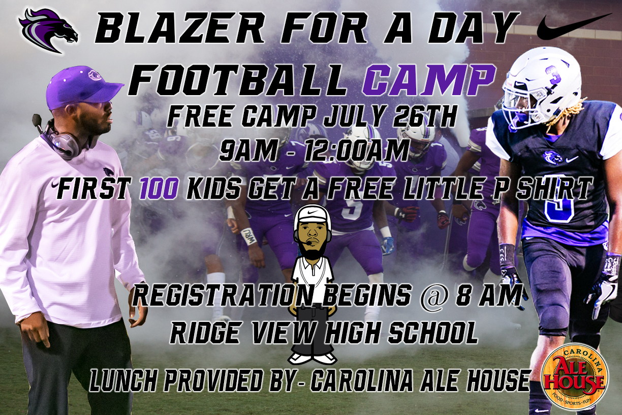 Free Football Camp Being Held on July 26
