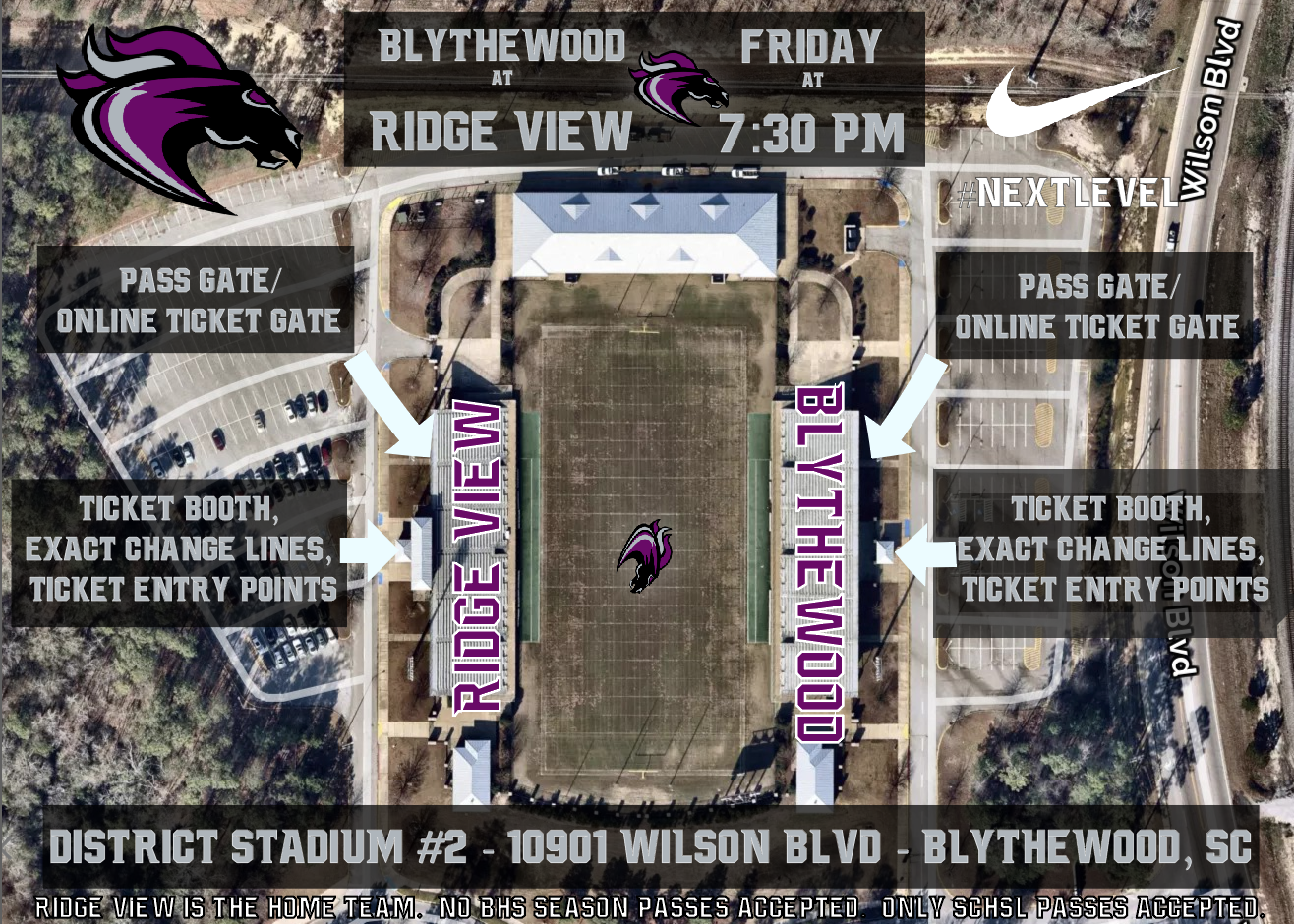 Ridge View vs. Blythewood Football Tickets On Sale Now!