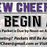 Cheerleading Tryouts Begin April 22 – Application Packets Due April 12