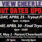 Cheerleading Tryout Dates Updated!
