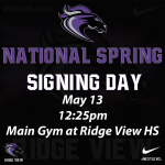 National Spring Signing Day May 13th