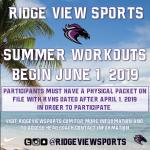 Summer Workouts Begin June 1