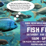 Girls Basketball Fish Fry Saturday 11am Until 5pm