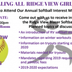 Softball Interest Meeting Wednesday, Sept. 18 at 4:30pm in MPR
