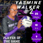 Blazer Volleyball- Player of the Game