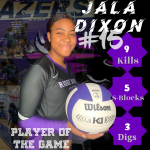 Player of the Game- Blazer Volleyball