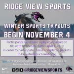 Winter Sports Tryouts Begin November 4, 2019