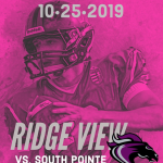 Pink Out and Senior Night for V. Football Friday Night!