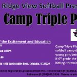 Softball Camp Nov. 2