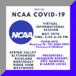 NCAA and COVID-19 Webinar – Wednesday, May 20