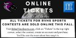 Online Tickets Only for Ridge View Fall Sports