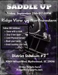 RVHS Varsity Football Hosts Northwestern on 9/25/20 – Tickets on Sale NOW
