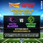 Sonic Spirit Night (Drive Thru Only) This Wednesday Night