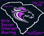 Girls Soccer Meeting Dec. 7!