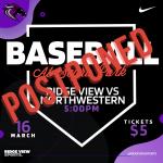Tonight's Baseball Game at Segra Park Postpone