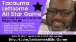 Tacauma Lettsome All Star Fundraising Game – May 22 at 6:30!