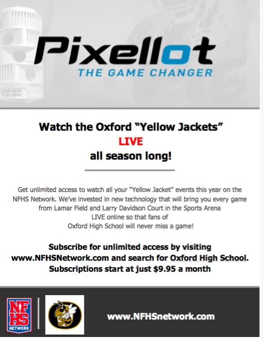 "Watch the Oxford ""Yellow Jackets"" LIVE all season long! NFHS Network"