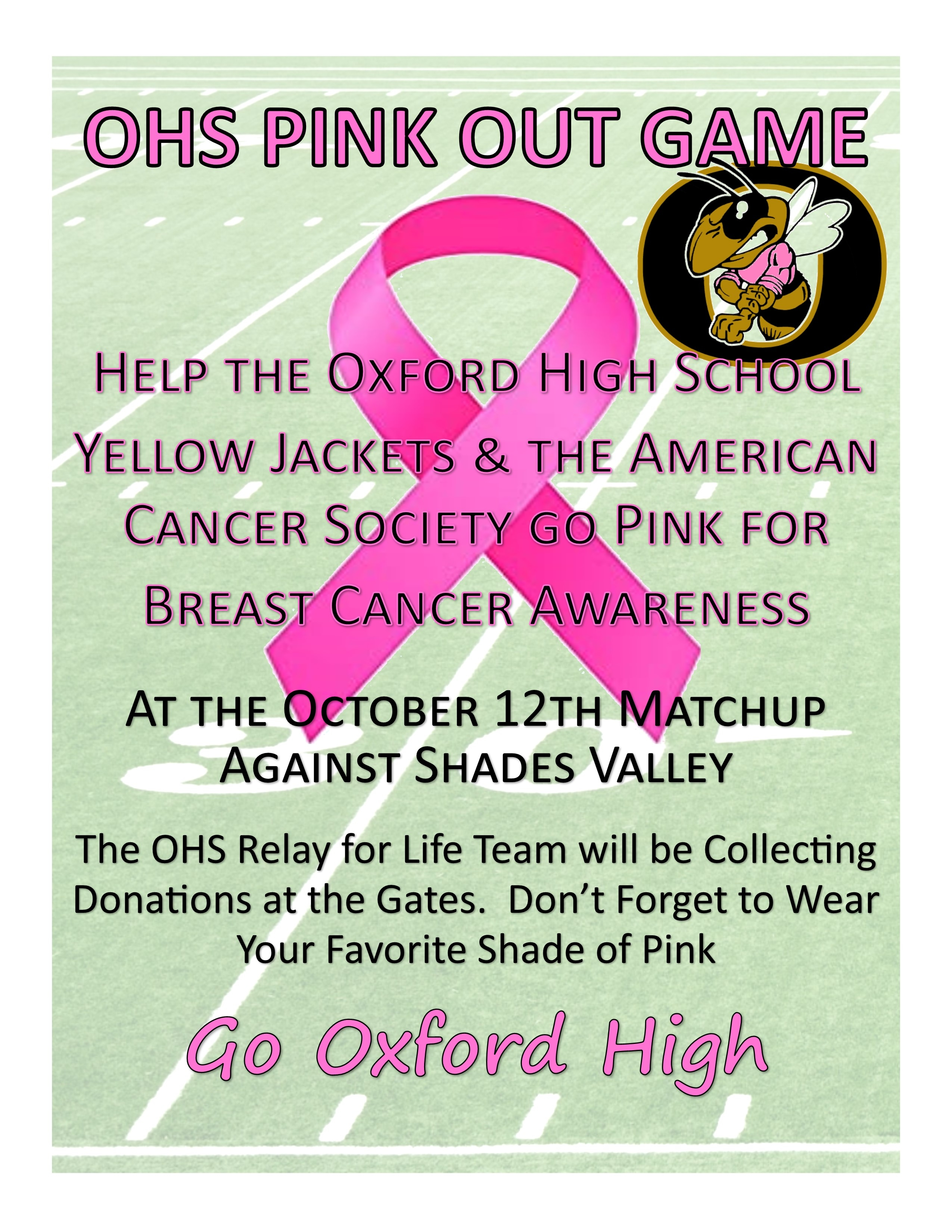 OHS Pink Out Game