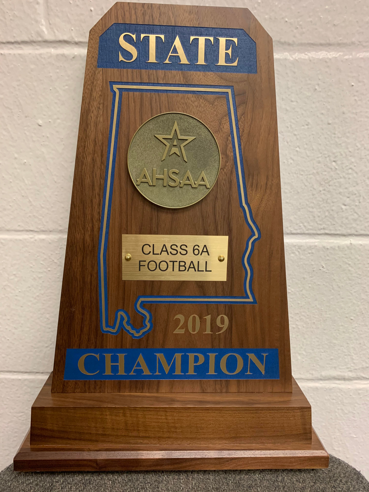 Class 6A State Football Championship Trophy Presentation