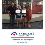 Thank you Farmers Insurance, Hottman Agency, for sponsoring our Athletes of the Month