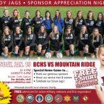Lady Jags Soccer Sponsor Appreciation Night – January 19th