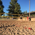 Boulder Creek High School Girls Varsity Volleyball Beach beat Arcadia High School 3-2