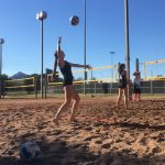 Boulder Creek High School Girls Varsity Volleyball Beach beat Mountain Pointe High School 4-1