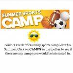 Boulder Creek Summer Sports Camps!