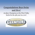 Congratulations Boys Swim & Dive!